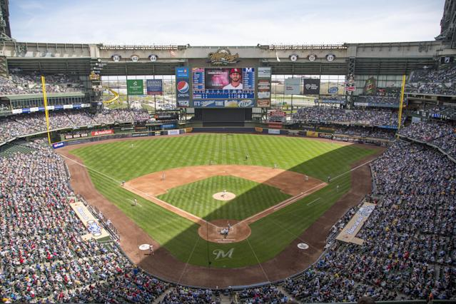 "A personal argument between reporters at Miller Park reportedly led to a punch and ""significant injury."" (Getty Images)"