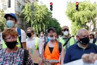 Protest against Chinese Fudan University campus in Budapest