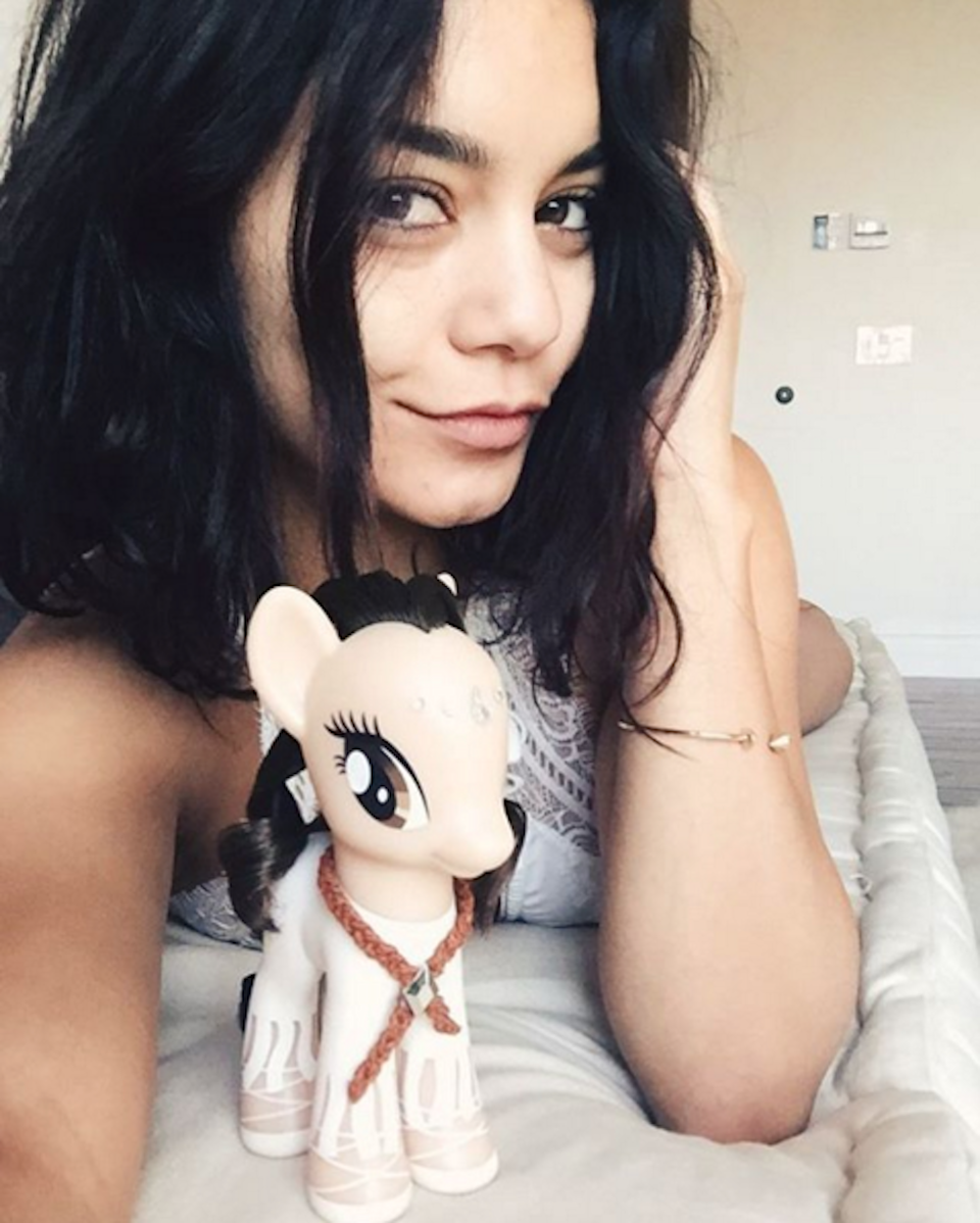 """<p>Vanessa posted this natural-faced selfie in honor of My Little Pony Friendship Day and she asked fans to, """"do something nice for your bestie.""""</p>"""
