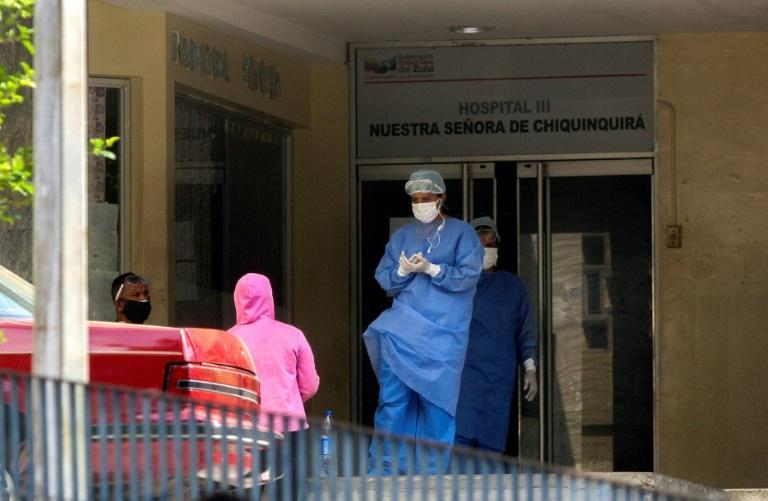 Health workers at the Hospital Universitario in Maracaibo, in Venezuela's Zulia state, say they do not have enough personal protective gear