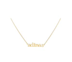 "<span class=""caption"">Adina's Jewels Personalized Mini Lowercase Nameplate Necklace</span> <span class=""credit"">Nordstrom</span>"