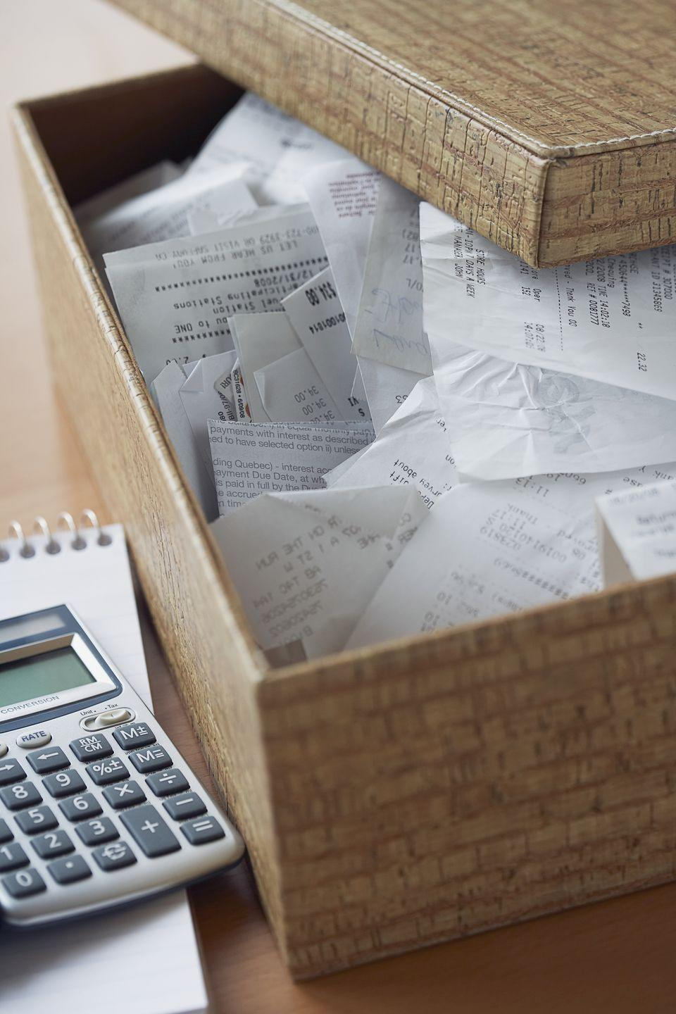 """<p>Although paperless receipts are slowly but surely becoming the norm, there are still plenty of retailers and restaurants that give out the paper kind. """"Save receipts on the fly with Shoeboxed, an app that lets you photograph store slips or forward e-mail receipts,"""" says Donna Smallin, author of <a href=""""http://www.amazon.com/Clear-Clutter-Find-Happiness-Decluttering-ebook/dp/B00KLNAIKS?tag=syn-yahoo-20&ascsubtag=%5Bartid%7C10063.g.36459111%5Bsrc%7Cyahoo-us"""" rel=""""nofollow noopener"""" target=""""_blank"""" data-ylk=""""slk:Clear the Clutter, Find Happiness"""" class=""""link rapid-noclick-resp"""">Clear the Clutter, Find Happiness</a>. Once uploaded, you can categorize receipts and easily find them on the searchable server. </p><p><a class=""""link rapid-noclick-resp"""" href=""""https://go.redirectingat.com?id=74968X1596630&url=https%3A%2F%2Fitunes.apple.com%2Fus%2Fapp%2Fshoeboxed-receipt-tracker%2Fid322143854%3Fmt%3D8&sref=https%3A%2F%2Fwww.redbookmag.com%2Fhome%2Fg36459111%2Forganizing-every-room%2F"""" rel=""""nofollow noopener"""" target=""""_blank"""" data-ylk=""""slk:GET SHOEBOXED APP"""">GET SHOEBOXED APP</a></p>"""