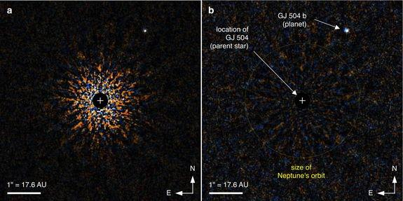 Cold, Blue World: 'Small' Alien Planet Captured on Camera