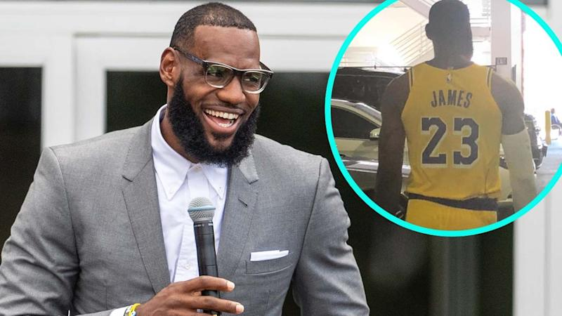 e32413dd2ab43 LeBron James Shows Off His Lakers Uniform For the First Time -- Pics!