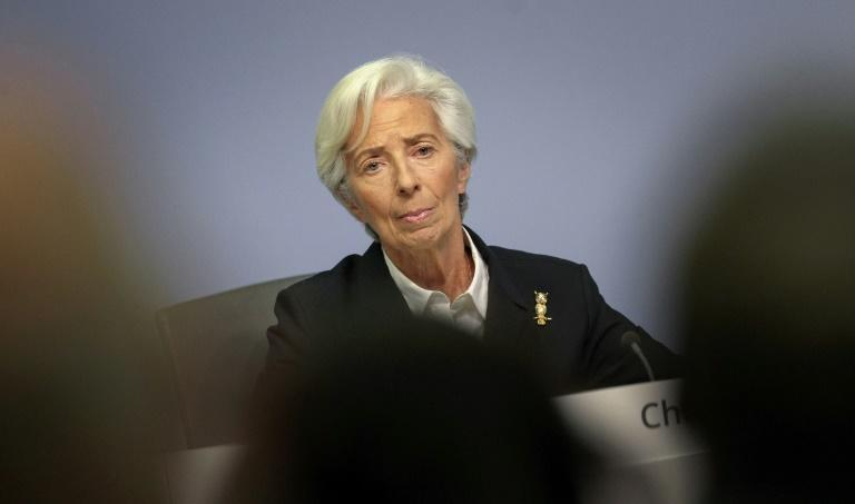 'We'll do it again for the second wave' - European Central Bank chief Christine Lagarde, pictured here in January, pledged Thursday that the bank would again step in to ensure Europe's economy keeps on an even keel