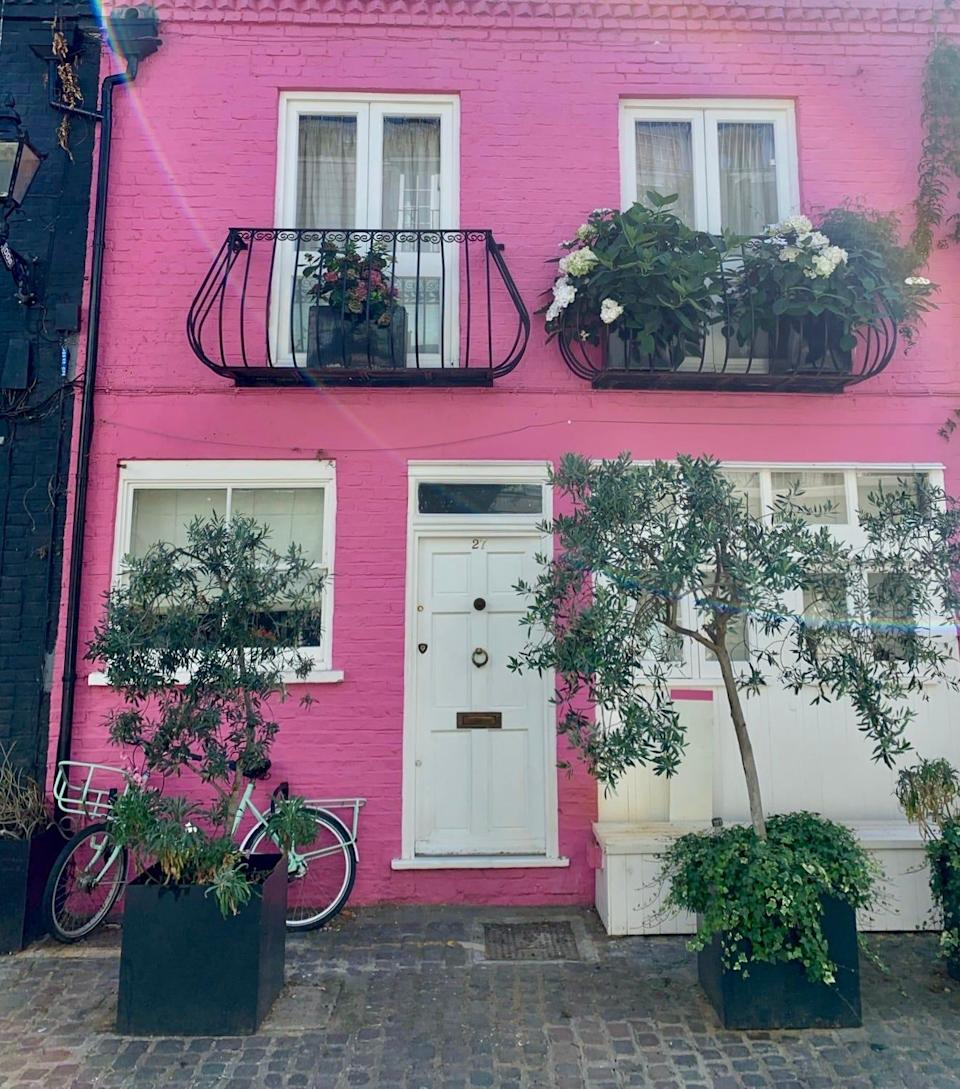 A straight shot of St. Lukes Mews in Notting Hill.