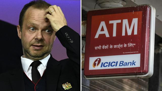 Ed Woodward and an ICICI advertisement.
