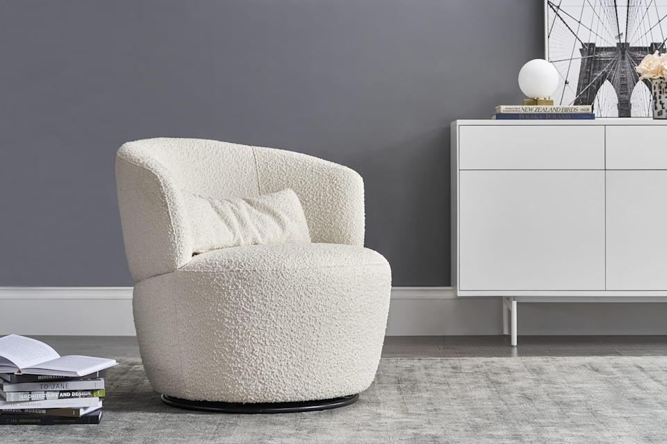 <p>We love that this <span>Castlery Amber Swivel Chair</span> ($459, originally $499) spins.</p>