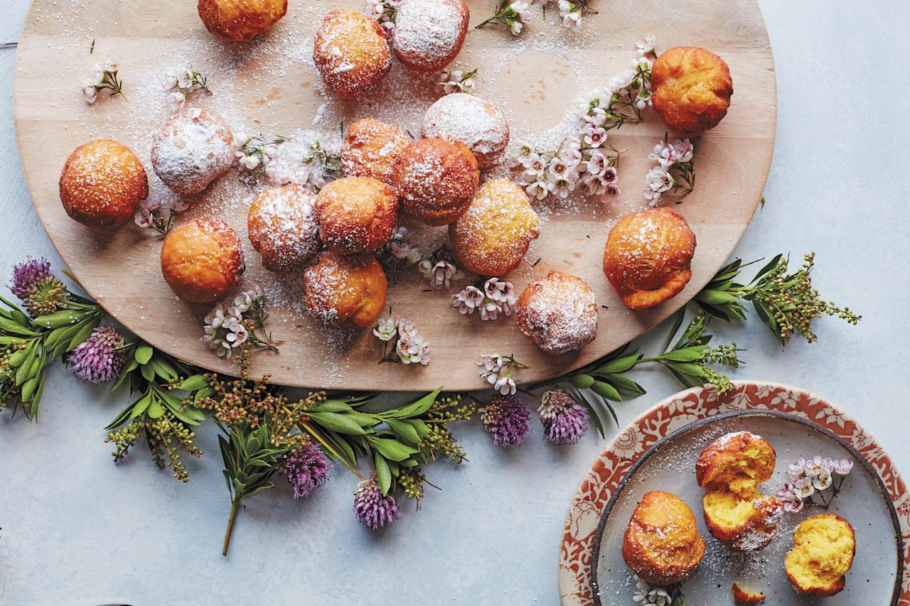"""These fritters are better than any doughnut. The kefir in the batter makes them extra creamy. <a href=""""https://www.epicurious.com/recipes/food/views/big-easy-pumpkin-doughnuts-beignets?mbid=synd_yahoo_rss"""">See recipe.</a>"""