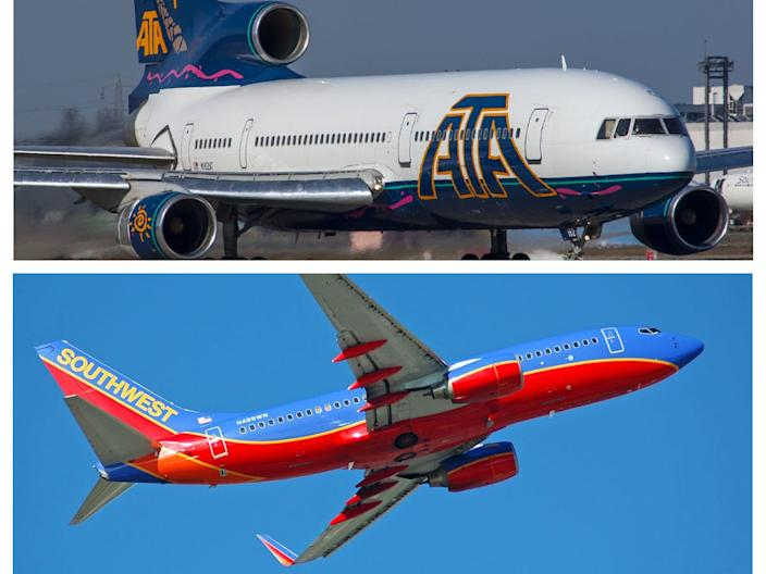 ATA Airlines and Southwest Airlines merger
