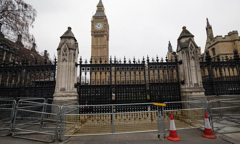 The Carriage Gates through which Khalid Masood entered the grounds of parliament.
