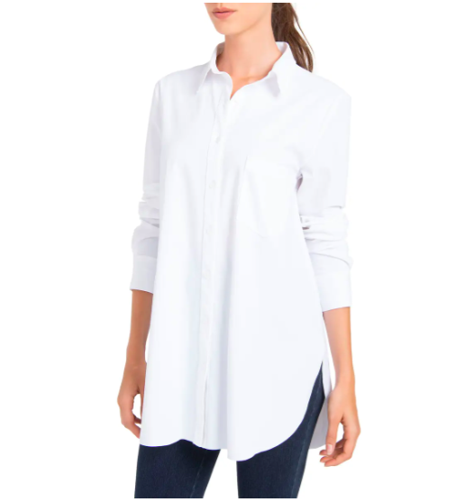 """<h2>LYSSÉ Schiffer Shirt</h2><br><strong>The Best Tall-Fit White Button-Down</strong><br>Whether you've got a longer torso or simply want to wear a tunic-length button-down, this menswear-inspired style from LYSSÉ offers the coverage you seek.<br><br><strong>The Hype:</strong> 4.1 out of 5 stars and 54 reviews on Nordstrom<br><br><strong>What They're Saying:</strong> """"Love the material of this shirt and the longer length. It is a bit oversized, so I took an extra small even though I typically wear a small in button-down shirts to have enough room in the bust. The slight stretch makes this very comfy. Will wear this tucked in for a more formal look, but also will look great with leggings and even unbuttoned as a layering piece.""""<br><br><strong>Lysse</strong> Schiffer Shirt, $, available at <a href=""""https://go.skimresources.com/?id=30283X879131&url=https%3A%2F%2Fwww.nordstrom.com%2Fs%2Flysse-schiffer-shirt%2F4888302"""" rel=""""nofollow noopener"""" target=""""_blank"""" data-ylk=""""slk:Nordstrom"""" class=""""link rapid-noclick-resp"""">Nordstrom</a>"""