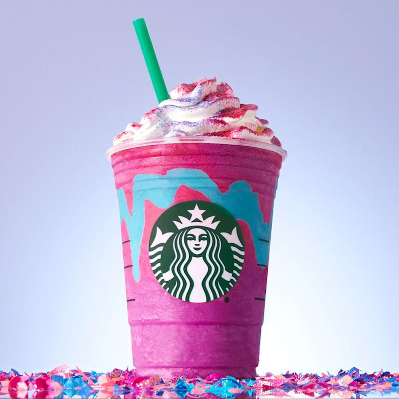 Someone has already created a hairstyle inspired by Starbucks' Unicorn Frappuccino