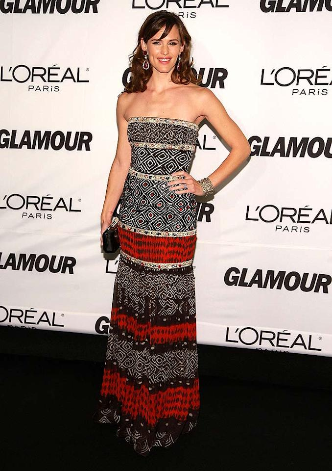 "Jennifer Garner takes a night off from performing in ""Cyrano de Bergerac"" on Broadway to attend Glamour magazine's 2007 Women of the Year Awards. Dimitrios Kambouris/<a href=""http://www.wireimage.com"" target=""new"">WireImage.com</a> - November 5, 2007"