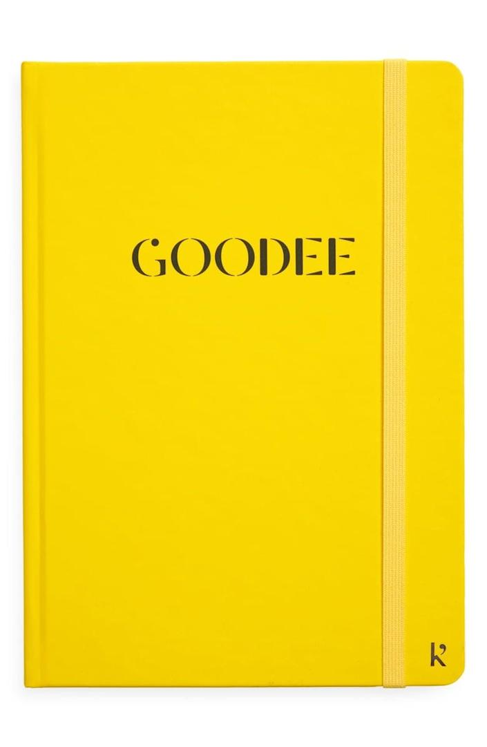 <p>Keep all your thoughts collected in this <span>Goodee x Karst Hardcover Notebook</span> ($35).</p>