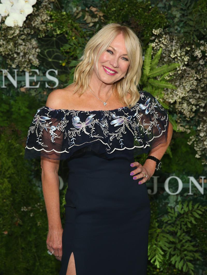 Kerri-Anne Kennerley attends the David Jones Spring Summer 18 Collections Launch at Fox Studios on August 8, 2018 in Sydney, Australia.