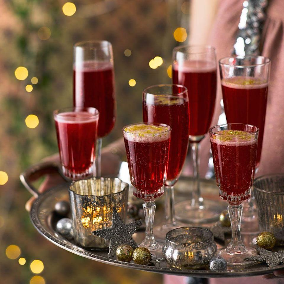 "<p>A sparkling gin cocktail that's perfect for a festive party.</p><p><strong>Recipe:<a href=""https://www.goodhousekeeping.com/uk/christmas/christmas-drinks/pomegranate-sparklers"" rel=""nofollow noopener"" target=""_blank"" data-ylk=""slk:Pomegranate sparklers"" class=""link rapid-noclick-resp""> Pomegranate sparklers</a></strong></p><p><br><br></p>"