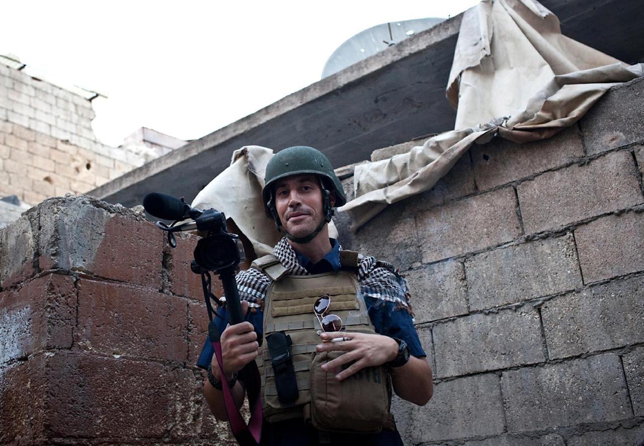 US freelance reporter James Foley in Aleppo on November 5, 2012 (AFP Photo/Nicole Tung)