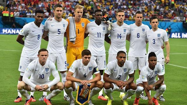 <p>Another unbeaten qualifying campaign ensured England's passage to the 2014 World Cup in Brazil. They beat Poland 2-0 in their final qualifying game with this starting lineup: </p> <br><p>Joe Hart, Chris Smalling, Leighton Baines, Steven Gerrard, Gary Cahill, Phil Jagielka, Andros Townsend, Michael Carrick, Daniel Sturridge, Wayne Rooney and Danny Welbeck.</p> <br><p>Despite an encouraging performance, England lost 2-1 to Italy in their opening game. Roy Hodgson made three changes to the side which finished qualification, with Smalling, Townsend and Carrick losing their places and Glen Johnson, Jordan Henderson and Raheem Sterling taking their places.</p> <br><p>Once again it was another disappointing major tournament for England, however this time England finished bottom of their group and didn't manage to win any of their three group games.</p>