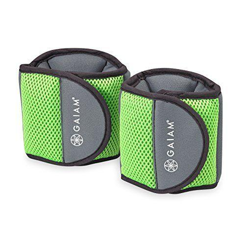 """<p><strong>Gaiam</strong></p><p>amazon.com</p><p><strong>$17.98</strong></p><p><a href=""""https://www.amazon.com/dp/B01M65V335?tag=syn-yahoo-20&ascsubtag=%5Bartid%7C2141.g.35862955%5Bsrc%7Cyahoo-us"""" rel=""""nofollow noopener"""" target=""""_blank"""" data-ylk=""""slk:Shop Now"""" class=""""link rapid-noclick-resp"""">Shop Now</a></p><p>If you want a <strong>soft, cushion-y feel</strong>, go for these ankle weights, says Davis. The broad velcro strap secures the weight in place and prevents slippage. Plus, as Lee notes, this pair is comfy without being bulky.<br></p>"""