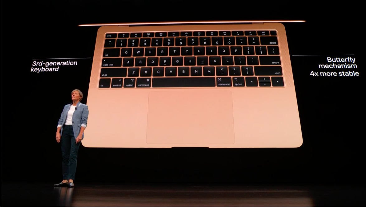The all-new MacBook Air has a flatter, more precise keyboard.