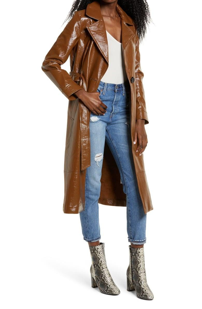 <p><span>Leith Faux Patent Leather Trench Coat</span> ($74, originally $149)</p>