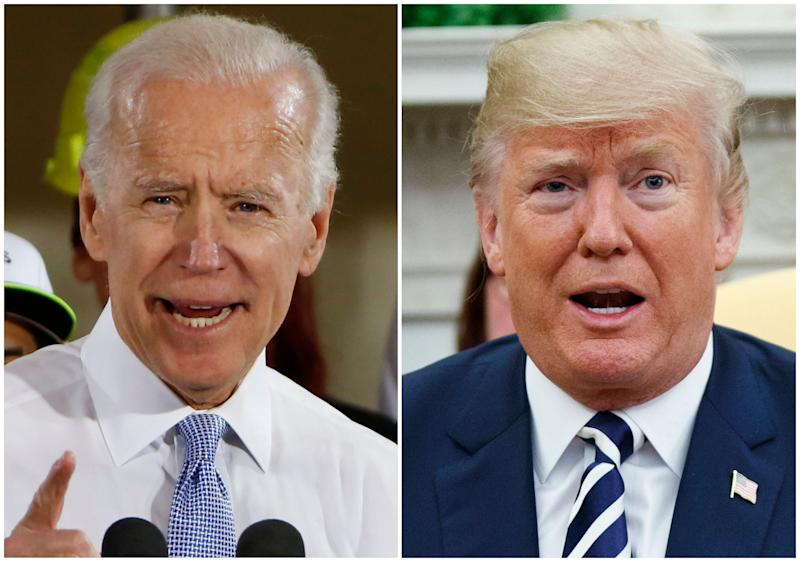 Former Vice President Joe Biden and President Trump