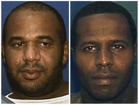 Booking photos of escaped convict Joseph Jenkins and Charles Walker