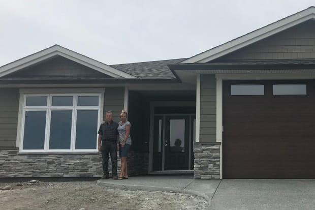 Chris and Aleda Staffanson had planned to move into their new dream home in Campbell River this weekend — but said the city told them Tuesday they would not be granted an occupancy permit. (Aleda Staffanson - image credit)