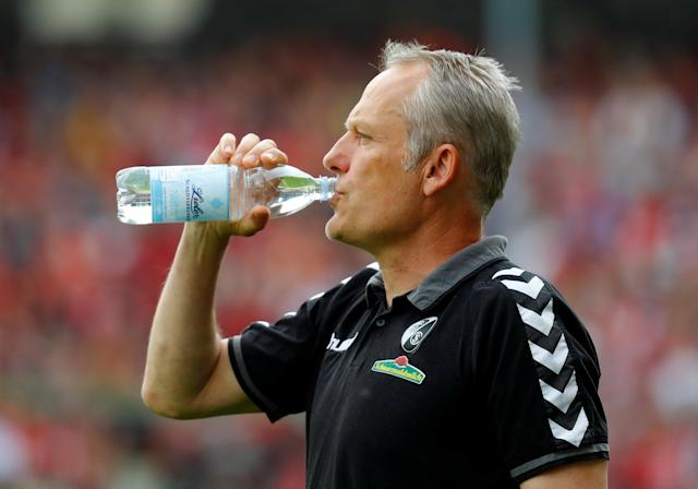 Soccer Football - Bundesliga - SC Freiburg v FC Augsburg - Schwarzwald-Stadion, Freiburg, Germany - May 12, 2018 SC Freiburg coach Christian Streich REUTERS/Kai Pfaffenbach DFL RULES TO LIMIT THE ONLINE USAGE DURING MATCH TIME TO 15 PICTURES PER GAME. IMAGE SEQUENCES TO SIMULATE VIDEO IS NOT ALLOWED AT ANY TIME. FOR FURTHER QUERIES PLEASE CONTACT DFL DIRECTLY AT + 49 69 650050