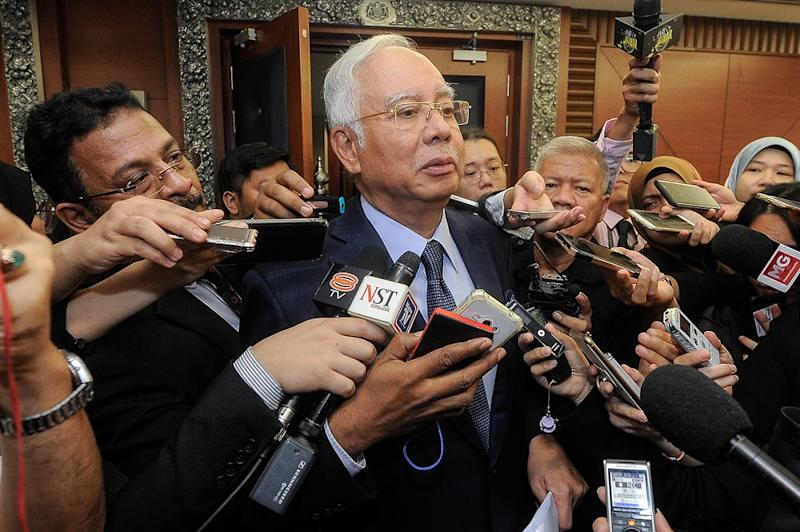 Datuk Seri Najib Razak today criticised Finance Minister Lim Guan Eng's dismissal over the SST being charged on food items like steamed buns (pau).— Picture by Shafwan Zaidon