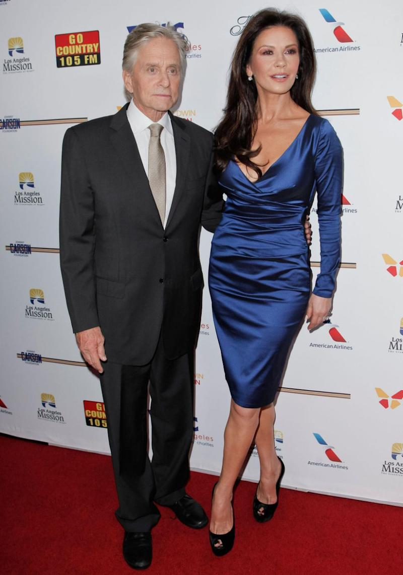 The actor is married to actress Catherine Zeta-Jones. The pair pictured here in November 2017. Source: Getty