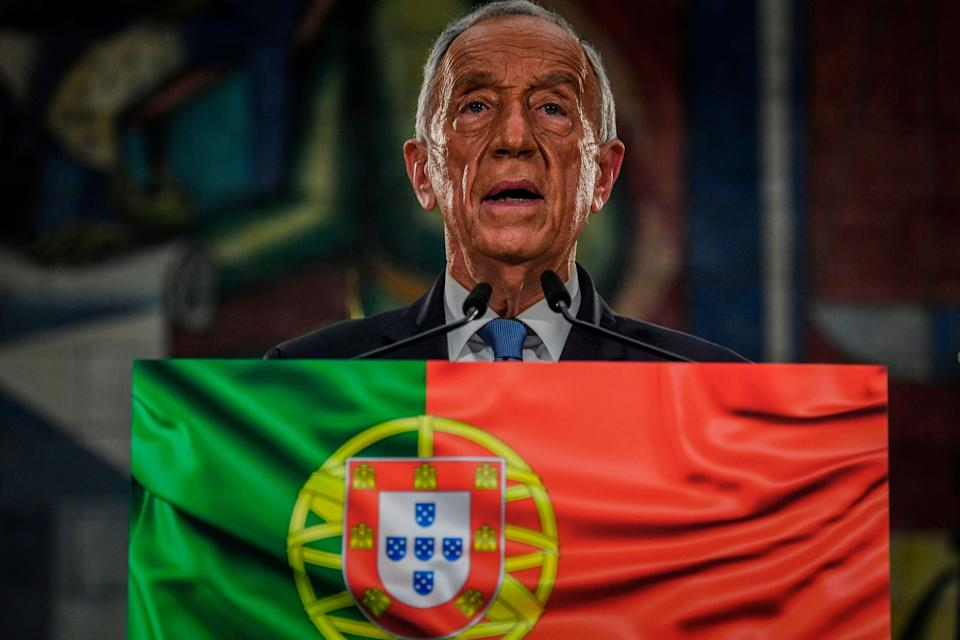 Presidential candidate Marcelo Rebelo de Sousa delivers his victory speech after been re-elected as Portugal's President during the 2021 presidential elections in Lisbon on January 24, 2021. - Marcelo Rebelo de Sousa won Portugal's presidential election with a majority of the vote in the first round, according to the election commission. (Photo by PATRICIA DE MELO MOREIRA / AFP) (Photo by PATRICIA DE MELO MOREIRA/AFP via Getty Images) (Photo: PATRICIA DE MELO MOREIRA via Getty Images)