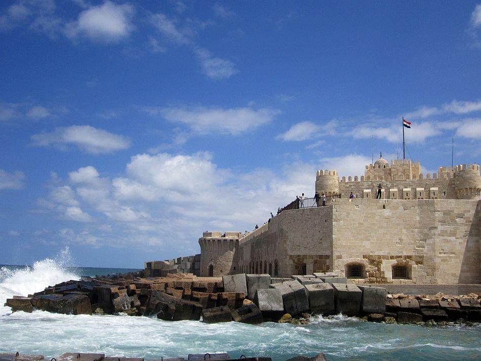 Quitbay's Castle by the Mediterranean Sea at Alexandria