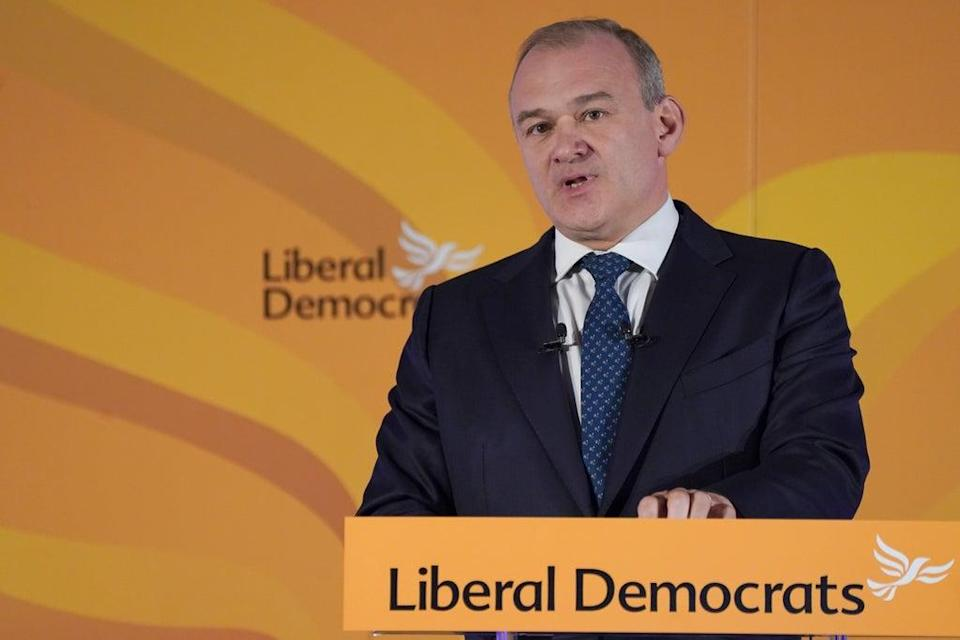 Liberal Democrat leader Sir Ed Davey said only his party had taken a 'principled' stance against Covid vaccine passports (Ian West/PA)