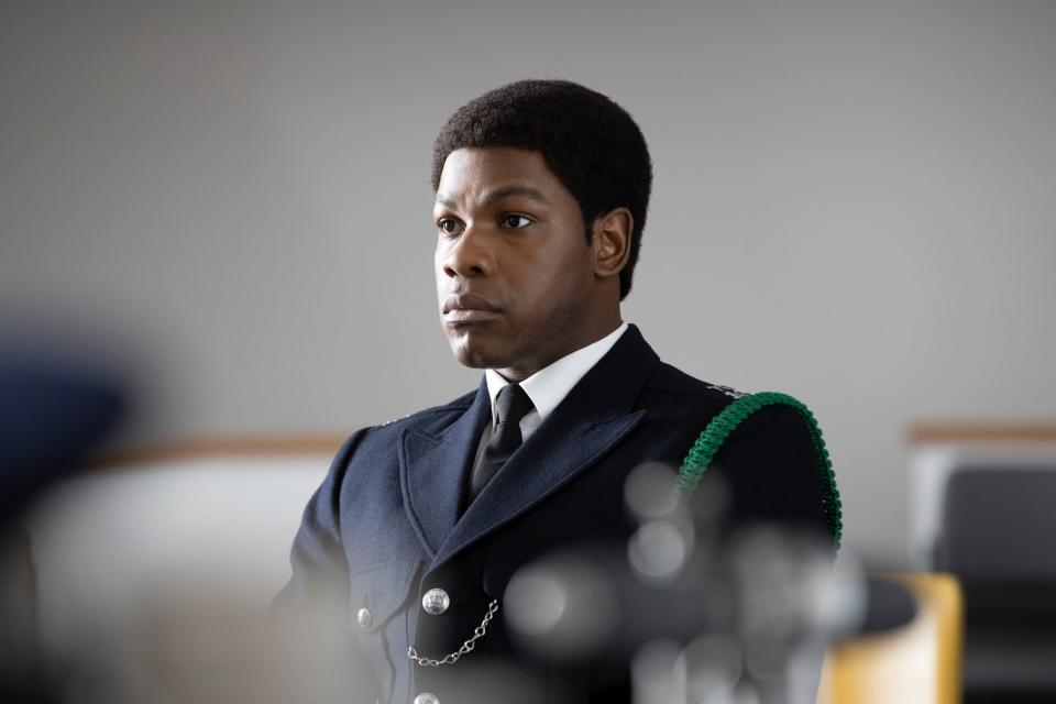 John Boyega in 'Small Axe: Red, White and Blue'. (Credit: BBC)