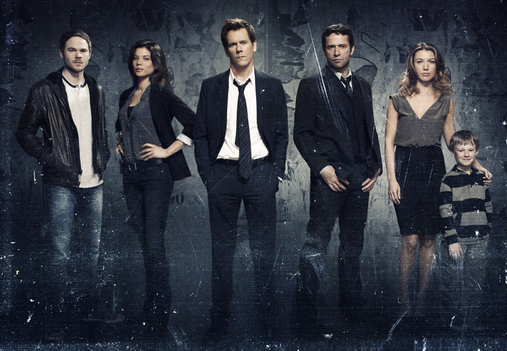 "<b>""The Following""</b> <b>(Midseason Drama)</b><br><br>Edge-of-your-seat thriller ""The Following,"" created by Kevin Williamson (""Dawson's Creek,"" ""Scream"" franchise) and starring Golden Globe Award-winning Kevin Bacon (""X-Men,"" ""Frost/Nixon"") and James Purefoy (""Rome""), premieres in midseason. The spellbinding and intense drama follows an ex-FBI agent (Bacon) called out of retirement to track down a devious and diabolical serial killer (Purefoy), the mastermind behind a nationwide string of murders."