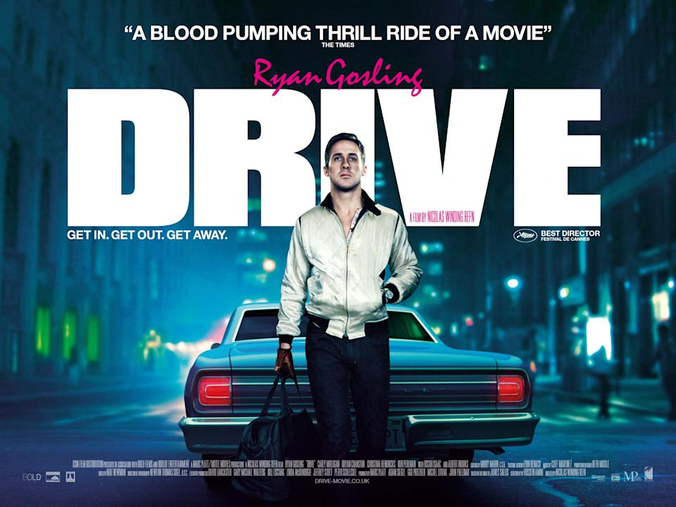 Ryan Gosling on the UK poster for Drive. (Icon Film)