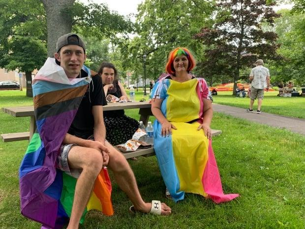 As barbecue was held at Rochford Square in Charlottetown on Sunday as part of the P.E.I. Pride Festival. (Shane Ross/CBC - image credit)