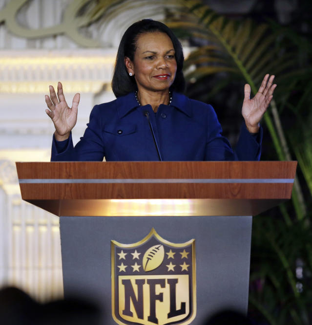 The Cleveland Browns reportedly want to interview Condoleezza Rice for their head coach opening. (AP)