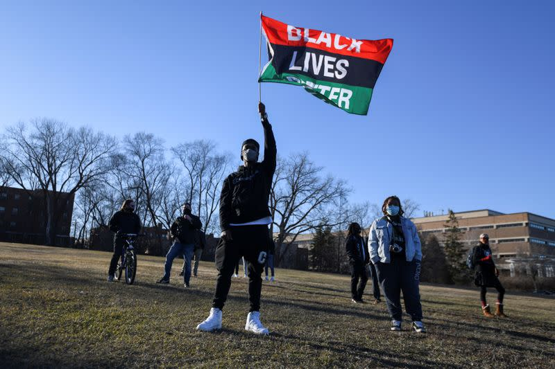 FILE PHOTO: Black Lives Matter demonstrators march to and from the Minnesota State Capitol in St. Paul