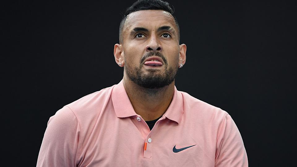 Nick Kyrgios, pictured here in action at the 2020 Australian Open.