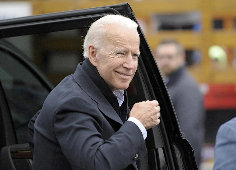Former vice president Joe Biden, now a candidate for the presidency, has responded to Donald Trump's derisive nicknames by dubbing the US president a 'clown' (AFP Photo/JOSEPH PREZIOSO)