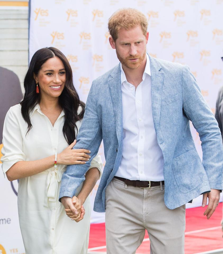 <p>Just one day after releasing an unprecedented statement about the media, Harry and Meghan appear at multiple engagements on the final day of their tour of southern Africa.</p>