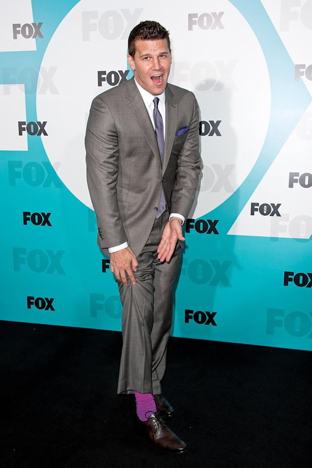 "David Boreanaz (""Bones"") attends the Fox 2012 Upfronts Post-Show Party on May 14, 2012 in New York City."