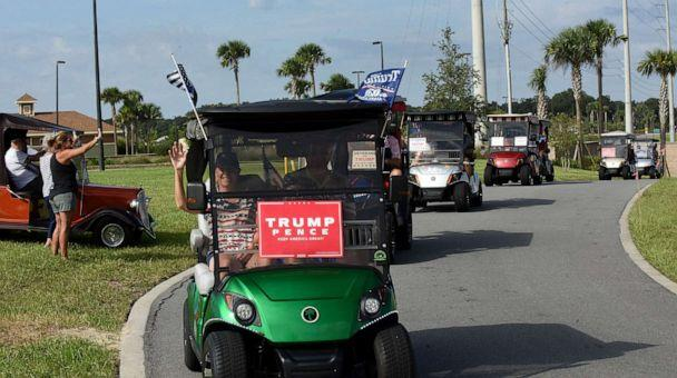 PHOTO: Residents participate in a golf cart parade in support of the re-election of President Donald Trump on Oct. 3, 2020, in The Villages, Florida, a retirement community north of Orlando, Fla. (Paul Hennessy/NurPhoto via ZUMA Press via Newscom, FILE)
