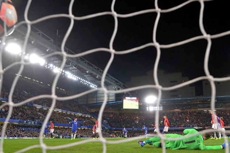 Case closed   Chelsea knocked Manchester United out of the FA Cup: AFP/Getty Images