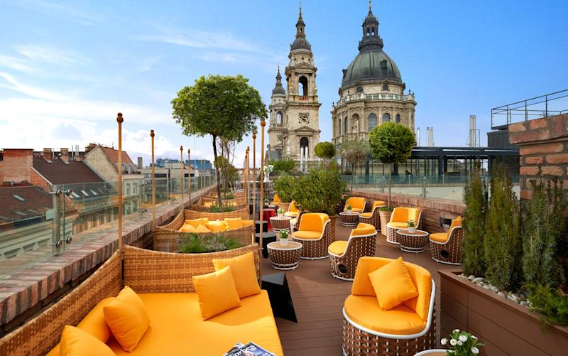 The Aria Hotel sits in the shadow of St Stephen's Basilica. - DGy