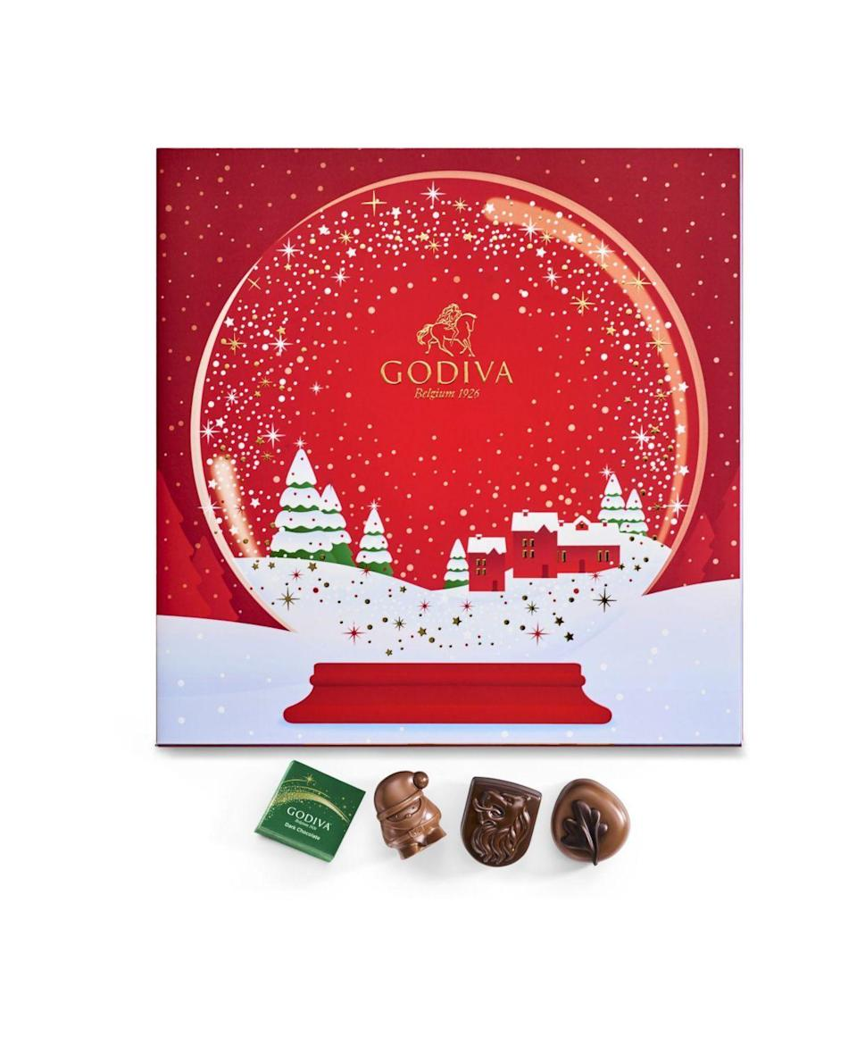 """<p><strong>Godiva</strong></p><p>macys.com</p><p><strong>$27.97</strong></p><p><a href=""""https://go.redirectingat.com?id=74968X1596630&url=https%3A%2F%2Fwww.macys.com%2Fshop%2Fproduct%2Fgodiva-chocolate-advent-calendar-24-piece-set%3FID%3D11056598&sref=https%3A%2F%2Fwww.townandcountrymag.com%2Fstyle%2Ffashion-trends%2Fnews%2Fg2970%2Ffancy-advent-calendars%2F"""" rel=""""nofollow noopener"""" target=""""_blank"""" data-ylk=""""slk:Shop Now"""" class=""""link rapid-noclick-resp"""">Shop Now</a></p><p>What more could you hope or than 24 pieces of decadent chocolate from the famous chocolatier, Godiva? </p><p><strong>More: </strong><a href=""""https://www.townandcountrymag.com/leisure/dining/g23596151/chocolate-advent-calendars/"""" rel=""""nofollow noopener"""" target=""""_blank"""" data-ylk=""""slk:Chocolate Advent Calendars"""" class=""""link rapid-noclick-resp"""">Chocolate Advent Calendars</a></p>"""