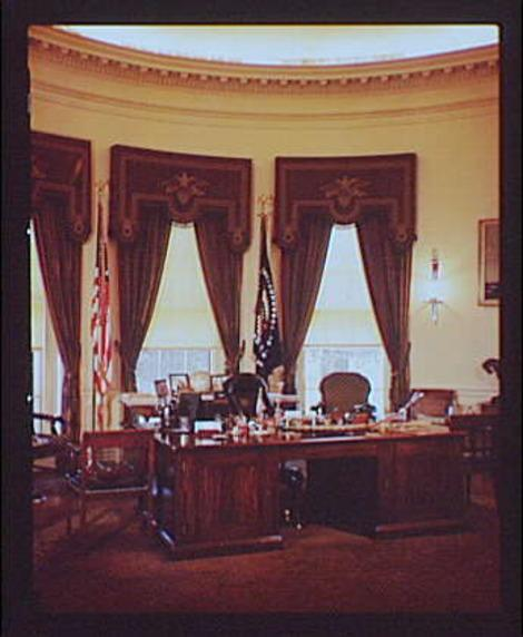 Franklin Roosevelt's office in 1936. (Photo: Library of Congress)